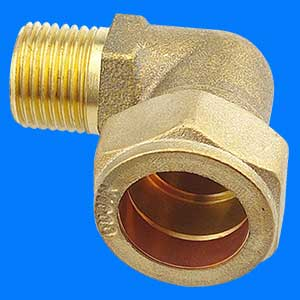Brass Right angle elbow